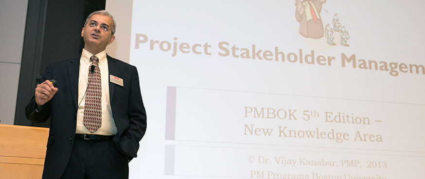 Vijay Kanabar at the Project Management in Practice Conference